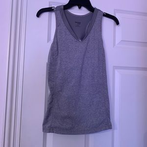 A gray work out tank top from Danskin